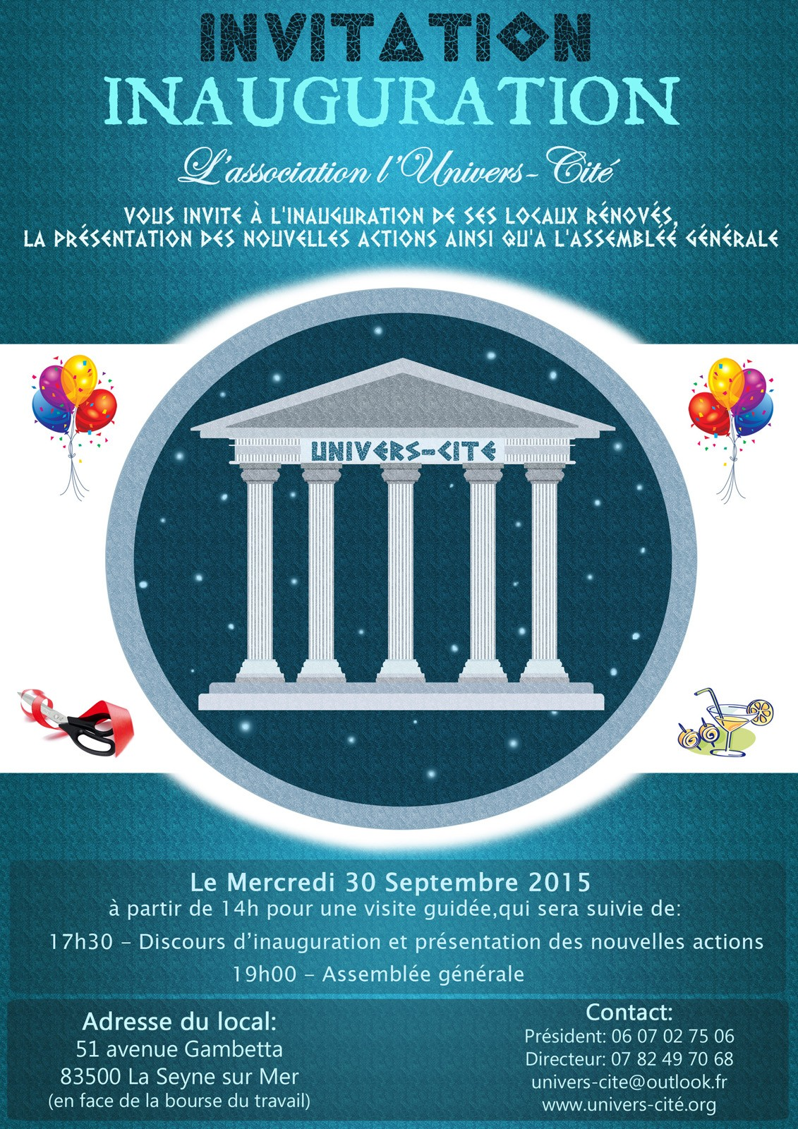 Invitation Inauguration Univers-Cité