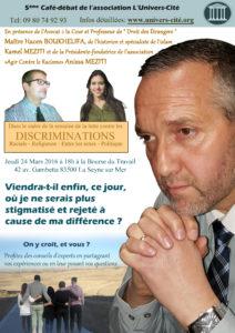 Café débat sur les discriminations
