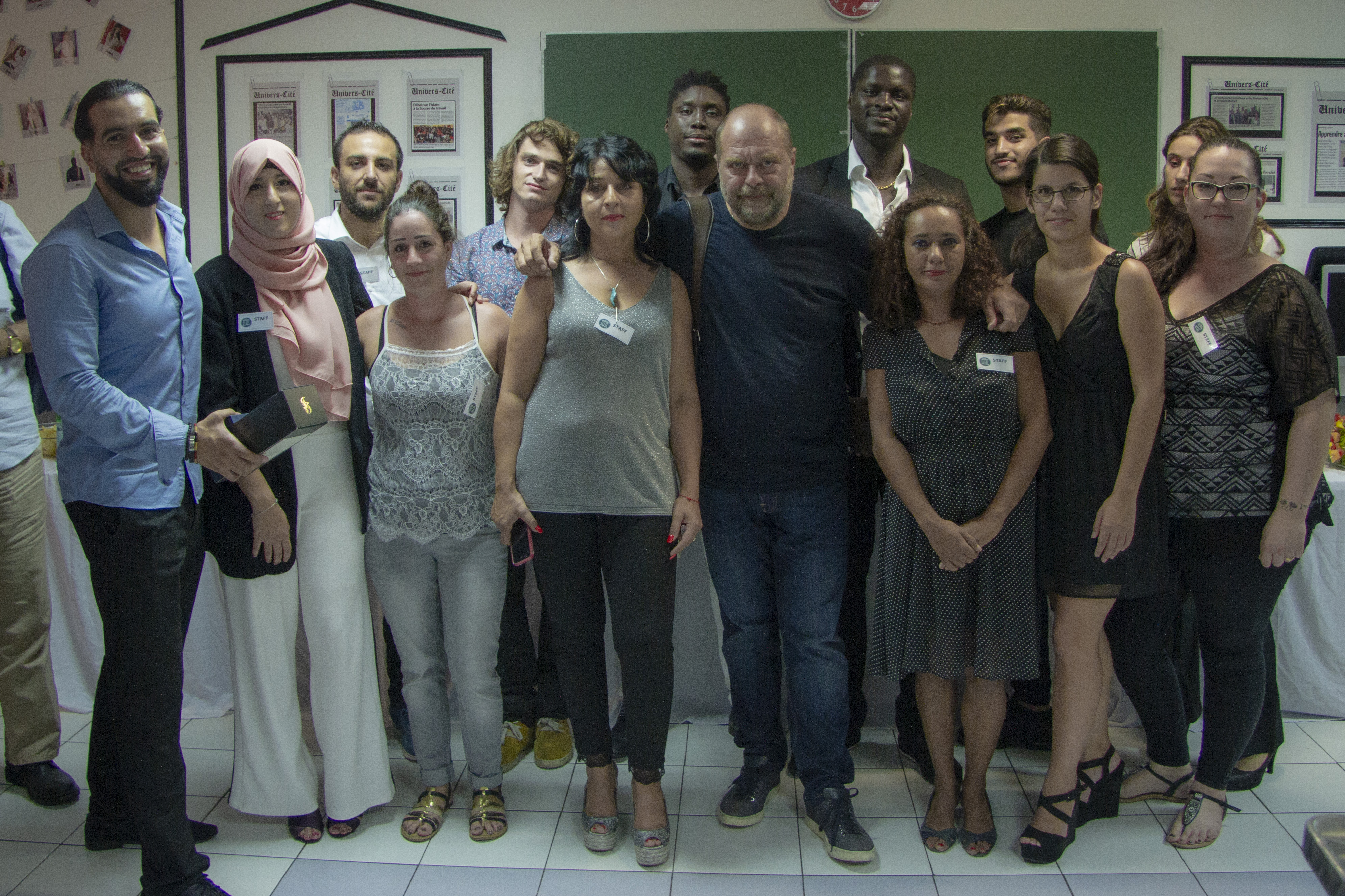 Équipe Univers-Cité avec Maître Dupond Moretti