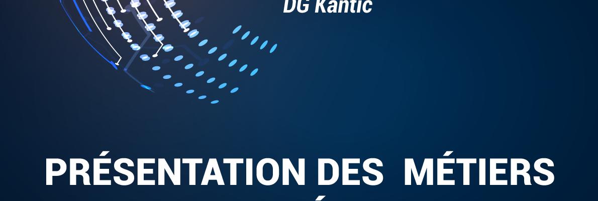 Affiche présentation des métiers du numérique