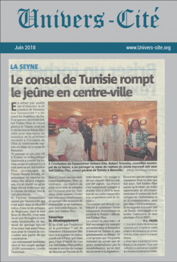 Article de journal du 15 Juin 2018
