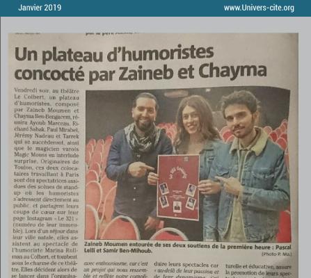 Article de journal du 17 janvier 2019