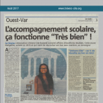 Article de journal du 23 Aout 2017