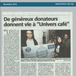 Article de journal du 23 novembre 2016