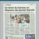 Article de journal du 24 septembre 2018