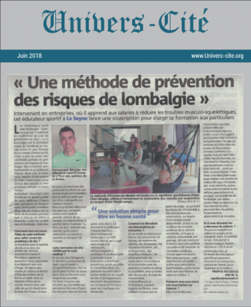 Article de journal du 4 Juin 2018
